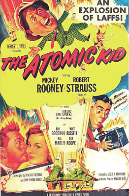 1954 Movies Photograph - The Atomic Kid, Us Poster, Mickey by Everett