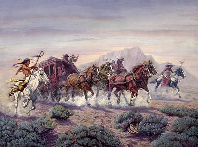 Indian Fine Art Painting - The Attack by Gregory Perillo