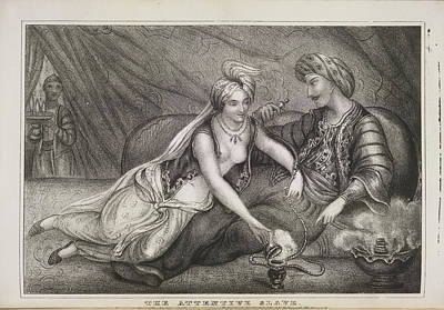 The Attentive Slave Art Print by British Library