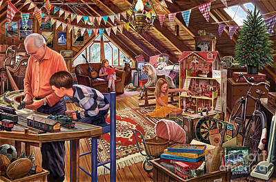 Domestic Digital Art - The Attic by Steve Crisp