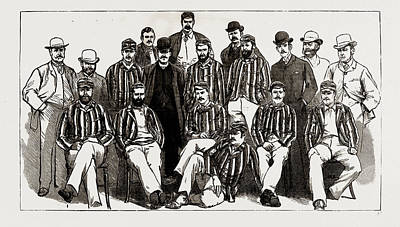 Cricket Drawing - The Australian Cricket Team Now Visiting England H.j.h by Litz Collection