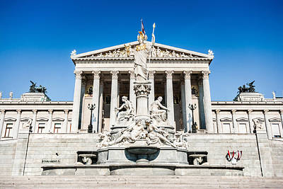 Photograph - The Austrian Parliament by JR Photography