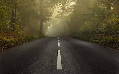 The Autumnal Road Art Print by Chris Fletcher