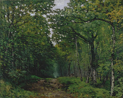 The Avenue Of Chestnut Trees At La Art Print by Alfred Sisley