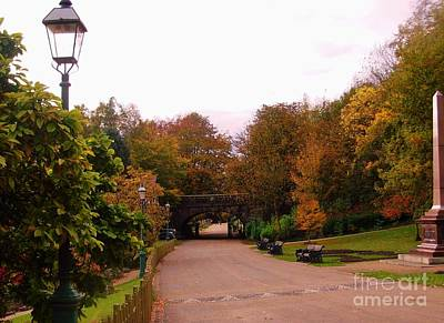 Photograph - The Avenue Of Lanterns At Avenham Park by Joan-Violet Stretch