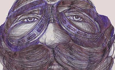 The Aviator Drawing - The Aviator by Richard Erickson