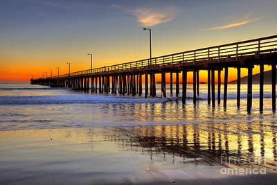 The Avila Beach Pier At Sunset Art Print