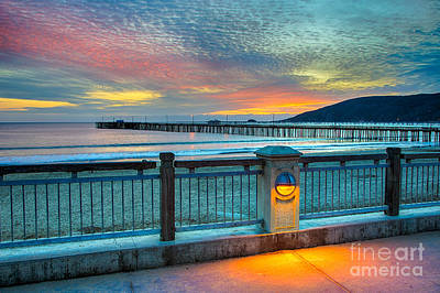 Sunset Photograph - The Avila Beach Walkway by Mimi Ditchie