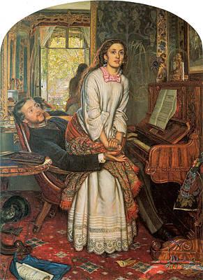 Piano Painting - The Awakening Conscience by William Holman Hunt
