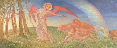 Guardian Angel Painting - The Awakening by Phoebe Anna Traquair
