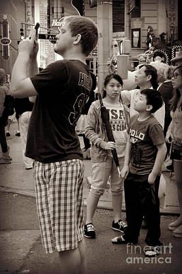 Photograph - The Awesome That Is Times Square - Kids In The Crowd by Miriam Danar