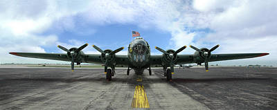 The B17 Flying Fortress Art Print