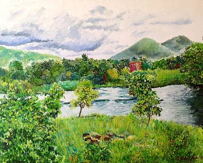 Painting - The Babbling Brook by Aditi Bhatt