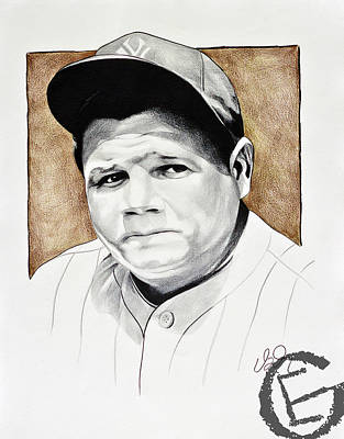 Babe Ruth Drawing - The Babe by Emmanuel Gonzales
