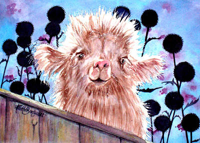 Newton Painting - The Baby Llama by Ruth Bodycott