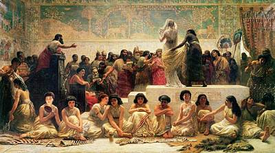 The Babylonian Marriage Market, 1875 Art Print by Edwin Longsden Long