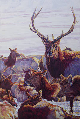 Wyoming Painting - The Bachelor by Patricia A Griffin