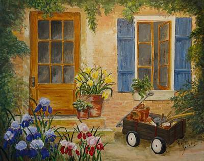 Painting - The Back Door by Marilyn Zalatan