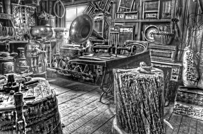 Photograph - The Back Room Black And White by Ken Smith