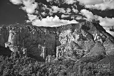 Photograph - The Back Side Of Sedona In Black And White by Lee Craig