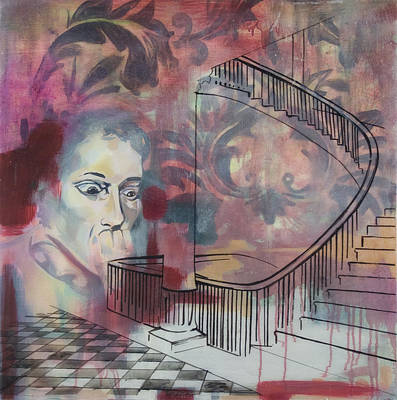 The Back Stairs Art Print by Stacey Sherman