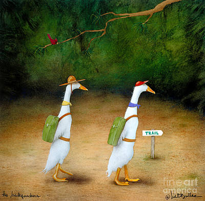 Ducks Painting - The Backquackers... by Will Bullas