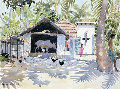 Warm Drawing - The Backwaters, Kerala, India by Lucy Willis