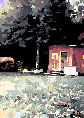 Shed Digital Art - The Backyard by Gabriel Jeane