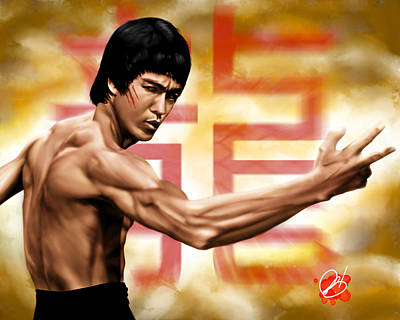 Bruce Art Painting - The Baddest by Pete Tapang