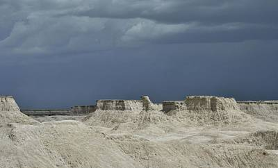 Photograph - The Badlands Mesas 2 by Nadalyn Larsen