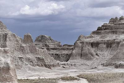 Photograph - The Badlands Sandstone Fortress by Nadalyn Larsen