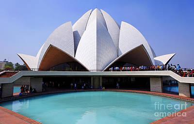 Bahai Photograph - The Bahai Temple In South Delhi by Robert Preston