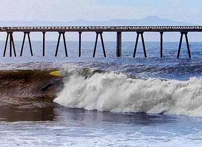 Of The Rincon Photograph - The Bail Out by Ron Regalado