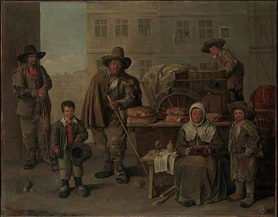 Michelin Painting - The Bakers Cart by Jean Michelin
