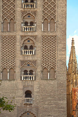 The Balconies Of Seville Cathedral Belfry Art Print by Viacheslav Savitskiy