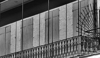 Photograph - The Balcony In The Quarter by Nadalyn Larsen