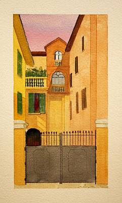 Painting - The Balcony by William Renzulli