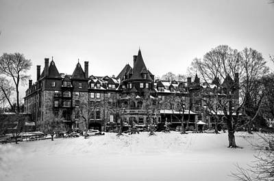 The Baldwin School In Winter In Black And White Art Print by Bill Cannon