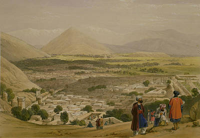 Mountain Drawing - The Balla Hissar And City Of Caubul by James Atkinson