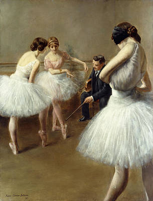 The Ballet Lesson Art Print by Pierre Carrier-Belleuse