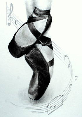 Drawing - The Ballet Shoes by Lynn Hughes