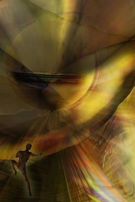 Digital Art - The Balloon Master by Holger Debek