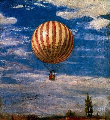 Hot Air Balloon Painting - The Balloon by Pal Szinyei Merse