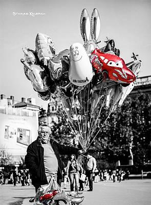 Photograph - The Balloon Salesman by Stwayne Keubrick