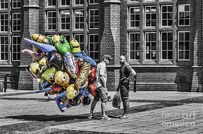 The Balloon Seller Popped Art Print