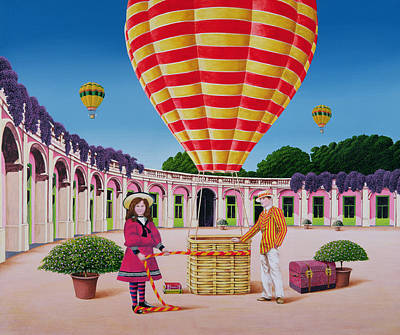 Heather Painting - The Balloonist by Anthony Southcombe