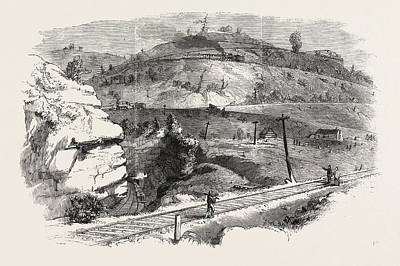 Baltimore Drawing - The Baltimore And Ohio Railway Boardtree Hill by English School