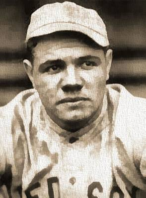 Babe Ruth Mixed Media - The Bambino by Dan Sproul