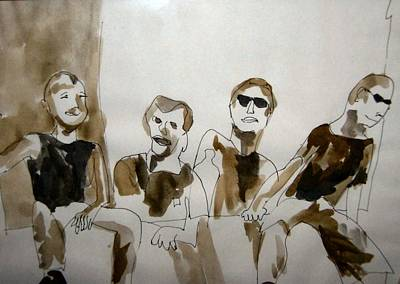 Painting - The Band by Esther Newman-Cohen