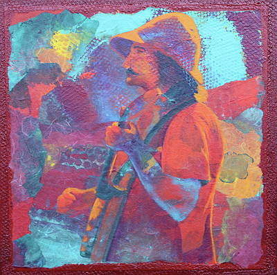 Art Print featuring the painting The Banjo Player by Nancy Jolley